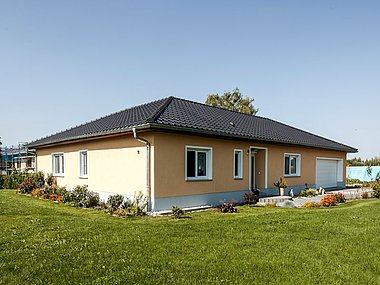 modernes Haus aus Ziegel